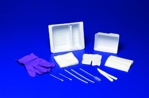 Special 1 Pack of 10 - Standard Trach Care Tray with Removable Basin KND47800 Kendall Healthcare PROD.