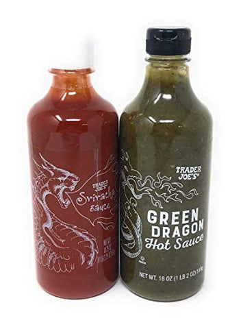 Green Dragon Hot Sauce and Sriracha Combo Pack - Trader Joes