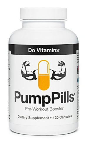 Pump Pills Nitric Oxide Supplements For Men & Women   L Citrulline L Arginine Supplement   Stimulant