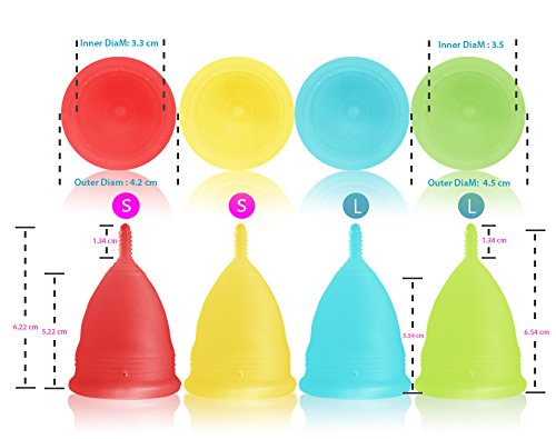 Blossom Menstrual Cup (Large, Yellow)