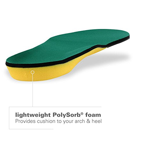 Spenco Polysorb Heavy Duty Maximum All Day Comfort and Support Shoe Insole, Women's Men's 12-13.5