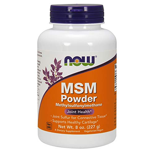 Now Supplements, Msm (Methylsulfonylmethane) Powder, Supports Healthy Cartilage*, Joint Health*, 8 O