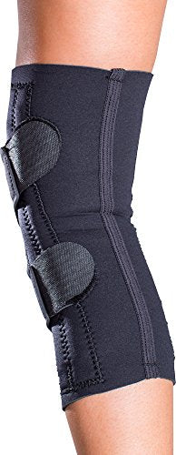 DonJoy Lateral J Patella Knee Support Brace Without Hinge: Drytex, Right Leg, Large