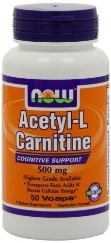 NOW Foods Acetyl L-Carnitine 500mg - 200 ct (Pack of 2)