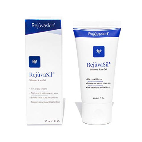 Rejuvaskin RejuvaSil Silicone Scar Gel - Improves the Appearance of Scars - Physician Recommended - 30 mL