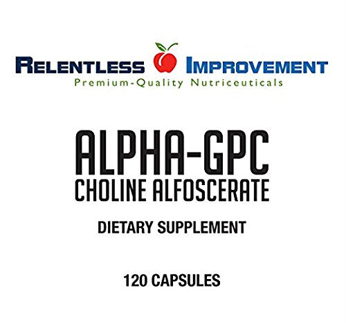 Relentless Improvement Alpha GPC 120 Capsules No Fillers No Soy