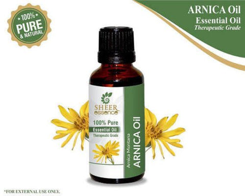 Arnica Flower Essential (Arnica Montana) Obtained From Distillation|Flower Extract Of Arnica 100% Pure & Natural Therapeutic Grade For Aromatherapy Use 1.01 Fl. Oz