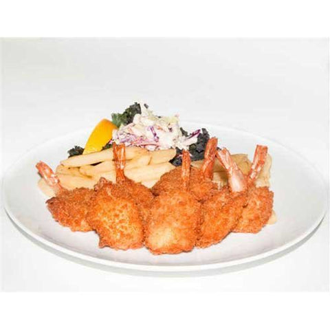 Ocean Cafe Hand Breaded Raw 16 20 Oriental Butterfly Cleantail Shrimp, 3 Pound -- 4 per case.