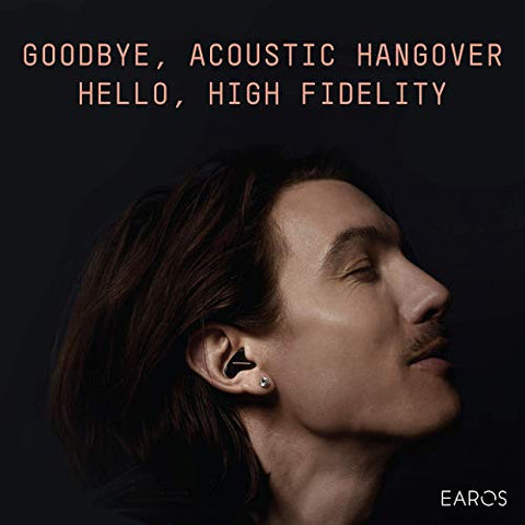 EAROS ONE High Fidelity Acoustic Filters for Concerts, Musicians, Noise Reduction, Hearing Protection - Reusable, Medical Grade, Superior to Ear Plugs - Made in The USA