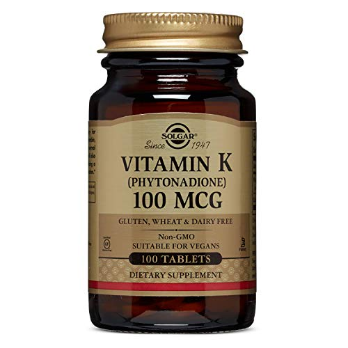 Solgar - Vitamin K, 100 mcg, 100 Tablets