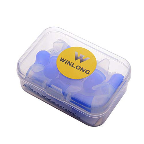 Pressure Reducing Ear Plugs, 4 Pairs Silicone Reusable Airplane Earplugs for Adults Flight Flying Travel with Storage Case by Win Long
