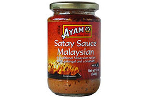 Satay Sauce Malaysian Style - 12oz (Pack of 2)