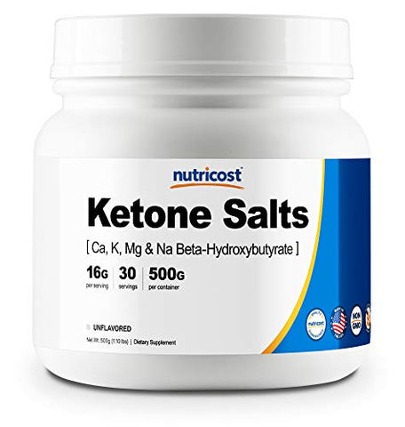 Nutricost Keto BHB Exogenous Ketones 4-in-1 (30 Serv) 12g Beta-Hydroxybutyrate (BHB) Per Serving, (Unflavored) - Ketone Salts