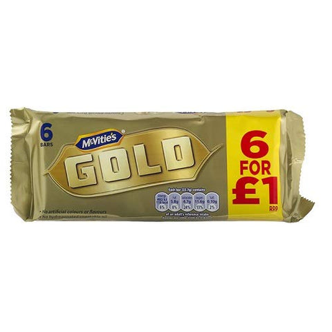McVities Gold Bars 6pk