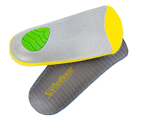 Sorbothane 3/4-Ultra PLUS Stability Insoles, Green, C: Women's 6-8