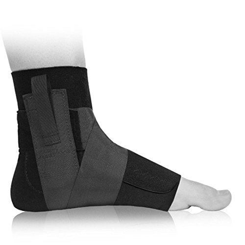 Premium Compression Wraparound Ankle Brace To Reduce Swelling And Speed Recovery   By Bio Skin (Xl