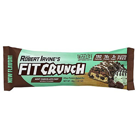 FITCRUNCH Sampler Box | Sample Snack Box | Designed by Robert Irvine | Snack Size Protein Bar, Protein Puffs & Full Size Protein Bar (5 Pack)