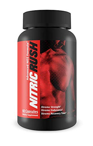 Nitric Rush-Strength, Endurance, and Recovery Time - L-Arginine Boost for Extra Pump in Your Workouts