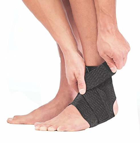 Mueller Green Adjustable Ankle Support, Black/Green, One Size Fits Most | Mueller Green is made from recycled materials