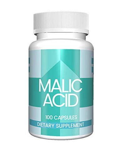 Malic Acid Capsules (100 Capsules, 600 mg per Serving) (1 Capsule/Serving) by Pure Organic Ingredients, Boost Energy Production, Alpha Hydroxy Acid, Help with Muscle Pain and Soreness*