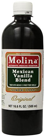 Mexican Vanilla Blend By Molina Vainilla, 16.6 Oz (Vanillin Extract)