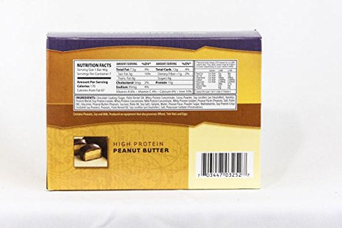 Healthwise Peanut Butter Layered/Soft Bar 15 Grams of Protein, 7 Count Box