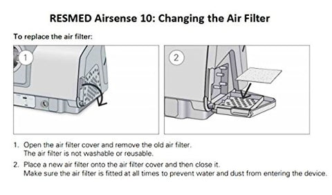 Nispira CPAP Fine Air Filters Compatible with ResMed AirSense 10, S9 Series, S9, AirStart & AirCurve, 48 Filters