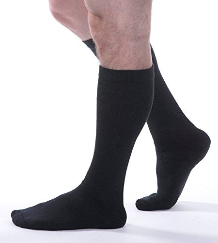 A Allegro 15 20mm Hg Athletic 325 Support Compression Socks (Black) Large