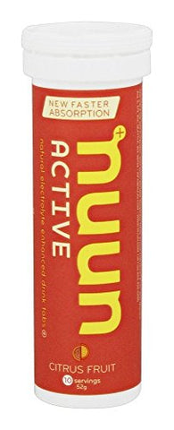 Nuun Active Citrus Fruit Electrolyte Enhanced Drink Tablets (2-Pack of 10)