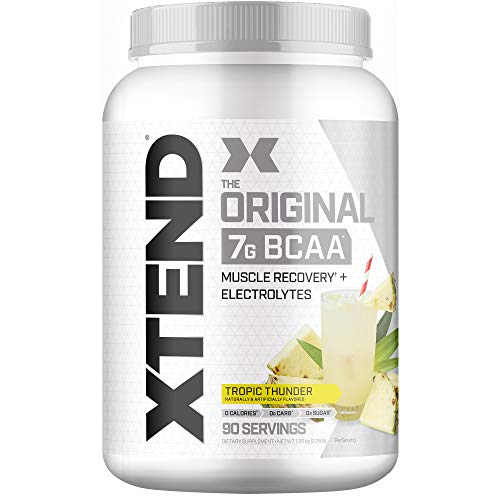 Xtend Original Bcaa Powder Tropic Thunder, Sugar Free Post Workout Muscle Recovery Drink With Amino