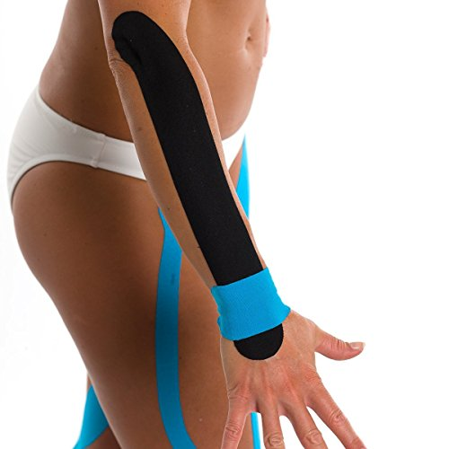 "3B Scientific Black Cotton Rayon Fiber Kinesiology Tape, 16' Length x 2"" Width"