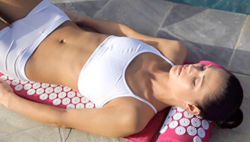 Bed of Nails, Pink Original Acupressure Mat for Back/Body Pain Treatment, Relaxation, Mindfulness