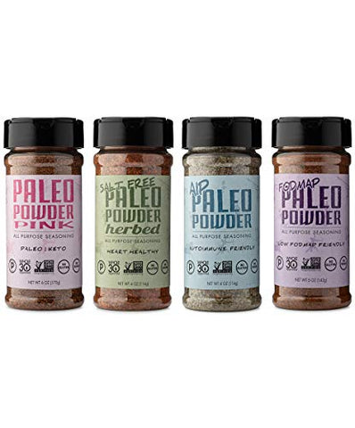 Paleo Powder All Purpose Seasoning Variety Pack. The Original Paleo Food Seasoning Great for all Paleo Diets. Certified Keto Food, Paleo Whole 30, Paleo AIP Food, and Paleo Gluten Free Seasoning.