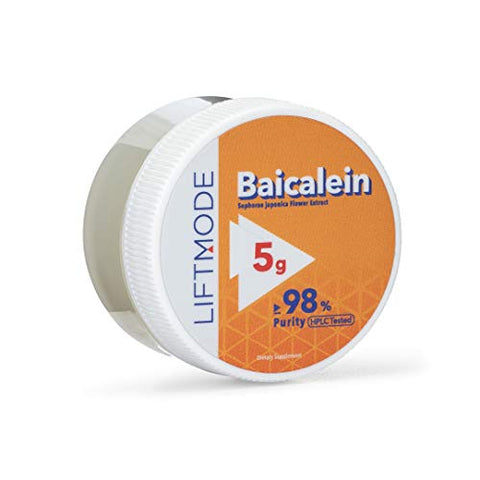 Lift Mode Baicalein Powder Supplement   Chinese Skullcap Herb For Relaxation, Stress Relief & Overall