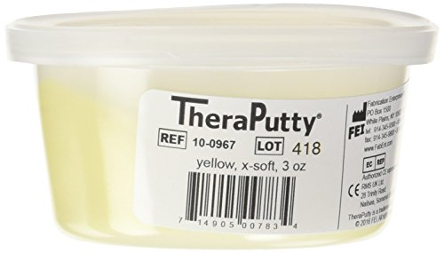 CanDo TheraPutty Standard Exercise Putty, Yellow: X-Soft, 3 Oz