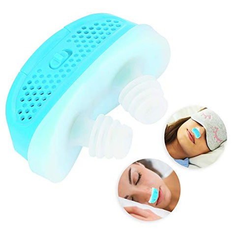 Duevin Professional Electric Intelligent Anti Snoring Apparatus Device Health Care Accessory(Blue)