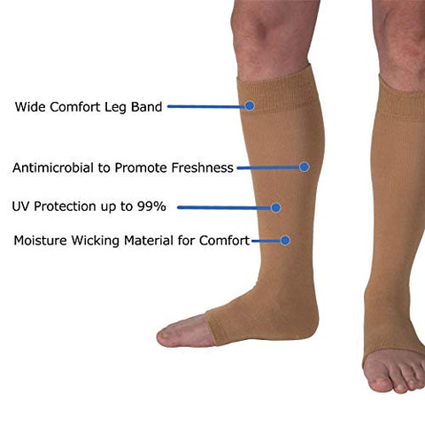 Skin Protection Leg Sleeves for Men & Women | Protect Sensitive Arm and Hand Skin Against Tears, Bruising and Sun Exposure | Available in: 2 Sizes (S/M,L/XL) & 1, 2, 12 Pair Packs