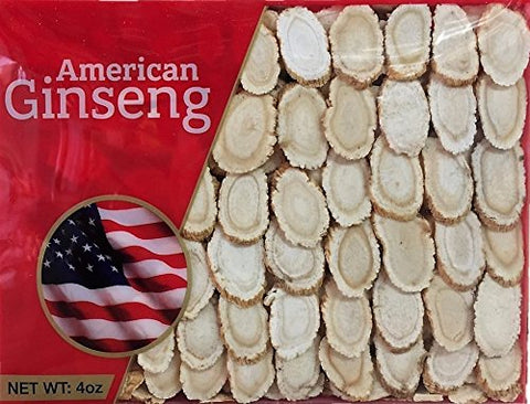 Hand Selected A Grade American Ginseng Medium Slice (4 Oz. Box)