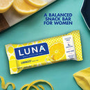 Image of Luna Bar   Gluten Free Bars   Lemon Zest Flavor   (1.69 Ounce Snack Bars, 15 Count)(Packaging May Va