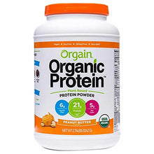 Orgain Organic Plant Based Protein Powder, Peanut Butter, Vegan, Gluten Free, Kosher, Non-GMO, 2.74 Pound, Packaging May Vary