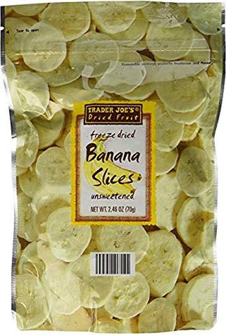 Trader Joe's Freeze Dried Banana Slices 2.46 oz (Pack of 3)