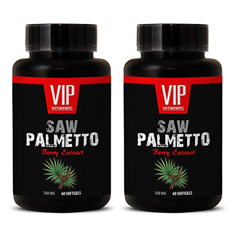 Kidney Health - Saw Palmetto Berry Extract 160 MG - Saw Palmetto Bulk - 2 Bottles 120 Softgels
