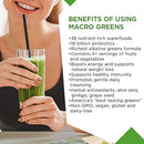 Image of Macro Life Naturals Macro Greens Superfood â?? Organic   Vegan   Non Gmo   38 Nutrient Rich Ingredien
