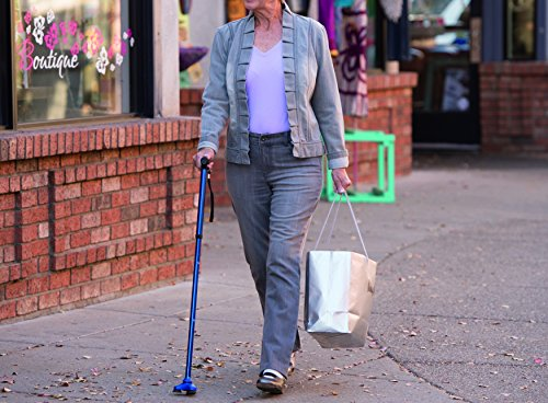 HurryCane Freedom Edition Folding Cane with T Handle, Pathfinder Purple