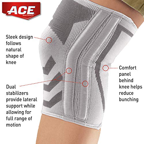 Ace Compression Knee Brace With Side Stabilizer, Helps Support Weak, Injured, Arthritic Or Sore Knee