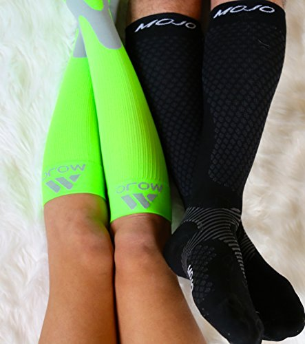MoJo Recovery & Performance Sports Compression Socks - Black Small