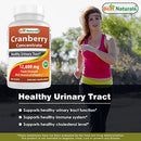 Image of Best Naturals Cranberry Pills 3 X Concentrate Veggie Capsule, 12600 Mg, 180 Count (817716010755)