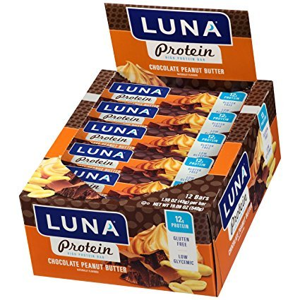 LUNA PROTEIN - Gluten Free Protein Bar - Chocolate Peanut Butter - (1.59 Ounce Snack Bar, 36 Count)
