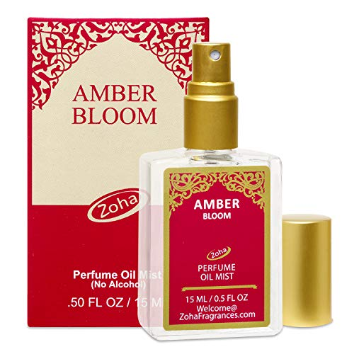 Amber Bloom Perfume Oil Mist (No Alcohol Spray)   Essential Oils And Clean Beauty Hypoallergenic Veg