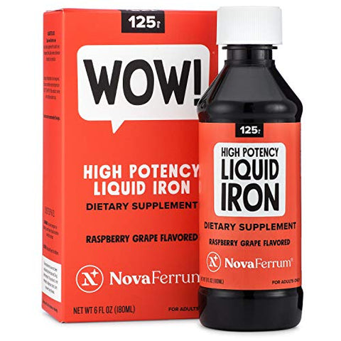 Nova Ferrum 125 High Potency Liquid Iron Supplement For Adults, 6 Fl Oz (180 M L)